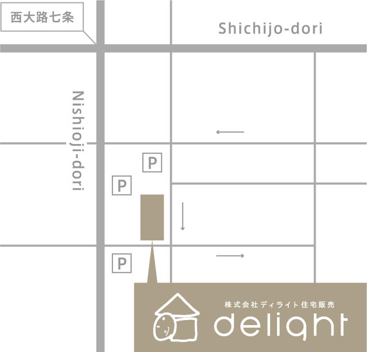 西大路七城 / Shichijodori / Nishioojidori / P / P / P / 株式会社ディライト住宅販売 delight